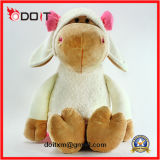 Pink Bow Soft Stuffed Plush Hippo Toy for Children