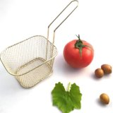 Square Fry Basket Metal Deep Fry Basket Present Fried Food Table Serving Chip Baskets Fryer Serving Food Basket, Mini Kitchen Frying Basket Esg15720