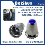 Chrome ABS Colorful Top Reflector Lug Nut Covers
