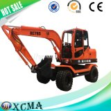 China Good Quality Mini Wheel Excavator with Grapple