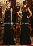 Black Lace Prom Party Gowns Sheath Evening Ladies Dresses Z605