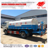 5mm Thickness Tank Body Sprinkling Tank Truck with Fire Monitor