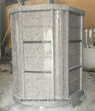Grey/Red/Black Granite Monument for Family in Japanese Style
