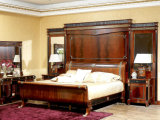 Europe Classical Style Beech Solid Wood Bed