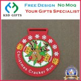 Professional Souvenir PVC Kids Medal with Ribbon