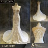 Trumpet / Mermaid Silhouette and 100% Polyester Material Cheap Muslim Wedding Dress