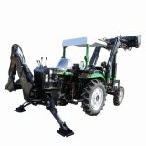 China Agricultural Machinery Manufacturer 40HP 4X4 Small Compact Garden Mini Farm Tractor with Front End Loader and Backhoe Attachment Price for Agriculture