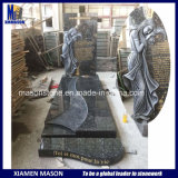 France Granite Tombstone in Blue Pearl with Carving