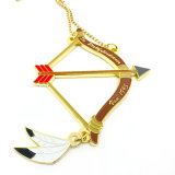 Wholesale Custom Zinc Alloy Brass Shooting Sport 3D Gift Medal Necklace for Competition