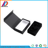 Black Flip Top Cardboard Box with Magnetic Closure for Headphone
