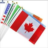 Low MOQ Wholesale Custom Logo Promotion Polyester National Cheap Soccer Fans Hand Flag
