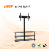 Classial 3 Tiers Tempered Glass TV Stand LCD Plasma Furniture (CT-FTVS-K204BM)