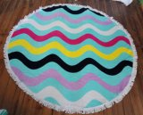 (BC-RT1003) High Quality 100% Cotton Round Beach Towel