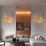 Bedroom Fashion Modern Tree Fork LED Reading Sconce Lights Wall Lamp in Gold Finished