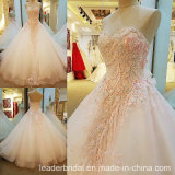 Beading Bridal Wedding Dress Pink Lace Wedding Gowns Ld1868