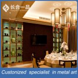 Customized Brown Stainless Steel Boutique Dipslay Shelf/Bookcase for Office Furniture