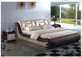 Diamond Real Leather Low Foot End Bed