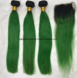 Ombre Malaysian Beauty Stage Wave Green Hair Weaving