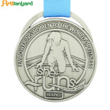 Customer Design Antique Silver Medal
