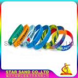 China Manufacturer Silicone Rubber Wristbands, OEM Special Logo Elastic Bracelets