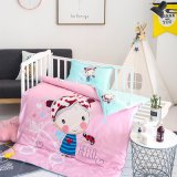 Cotton Printed Girl Baby Bumper Bed Baby Crib Bedding Set