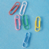 Coloured Plastic Coated Paper Clip Stationery (QX-PC001) 25/28/33/50/75mm