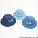Custom New Design 2D Embroidery Short Brim Children Bucket Cap