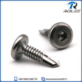 304/316/410 Stainless Steel Hex Socket Pancake Head Self Drilling Screw
