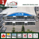 Two Storey Double Decker VIP Tent with Dome Top and Glass Wall