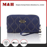 Blue Small Portable PU Ladies Bag Promotion Bag Cosmetic Bag