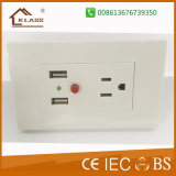 Made in Prc 3 Pin Wall Sockets Electrical USB Outlets