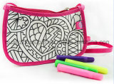 DIY Nylon Washable Student Shoulder Painting Doodle Bag for Gift