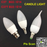 C37 C37t 3W E14 Candle Light LED Candle Lamps