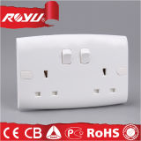 Power Electrical Universal Wall Double 3 Pin Socket
