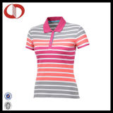 Top design High Quality Stripe Women Polo Shirt From China