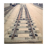 BS100A Railway Turnout with Casting Base Plate and Fabricate Crossing