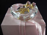 Wholesale Glass Rose and Heart Piano Valentine Personalized Crafts Premium Crystal Wedding Gift