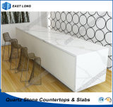 High Quality Kitchen Countertop for Home Decoration with Quartz Stone Material (Marble colors)