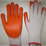 Knitted Polyester Latex on Palm Durable Coating Wrinkle Latex Gloves