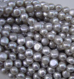 Button Pearl, Round Flat Pearl, Freshwater Pearl (BU10)