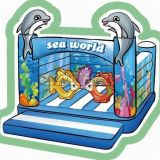 Cheer Amusement Sea World Themed Inflatable Bouncer Amusement Equipment