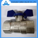 Butterfly Aluminum Handle Brass Forged Ball Valves for Water (YD-1076-1)