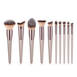 10PCS Makeup Brushes Champagee Maquillaje Powder Cosmetics Makeup Brush Set