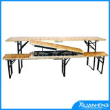 Foldable Fir Wood Beer Table