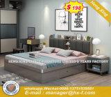 Modern Style Original Wood Color Wooden Leg Bedroom Bed (HX-8NR0689)