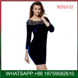 Hot Selling Hollow out Sexy Bodycon Velvet Dress for Adults