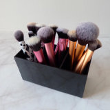 Custom Black Acrylic Makeup Brush Holder with Compartments