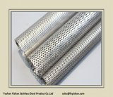 Ss409 63.5*1.2 mm UK Exhaust Stainless Steel Perforated Tube