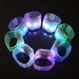 Promotional Gift Flashing Light Sound Motion Activated LED Silicone Wristbands