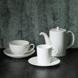 Pure White Coffee Cup Flower Pot Porcelain Tea Set Ceramic Coffee Pot